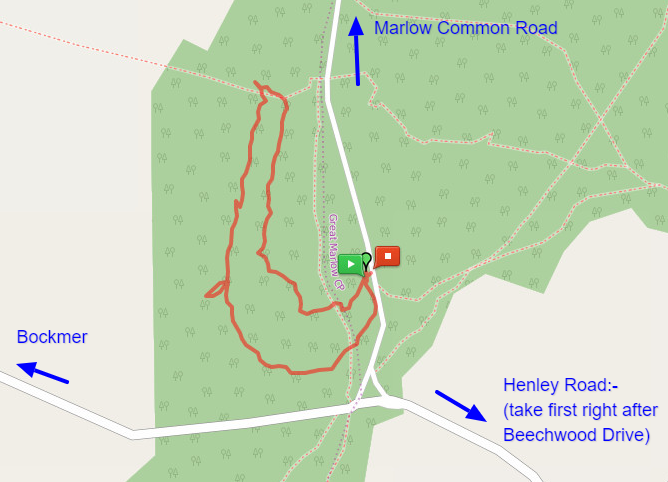 Marlow Common Woods Map
