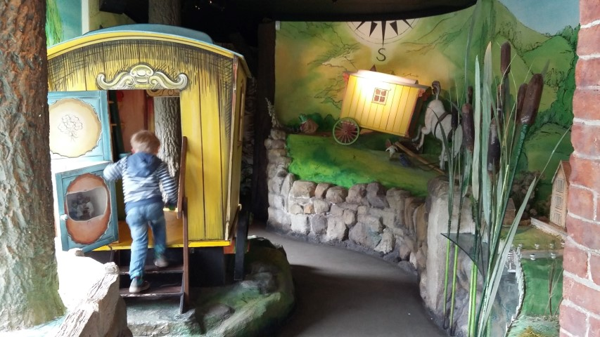 Wind in the Willows exhibition caravan
