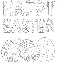 Happy Easter and eggs