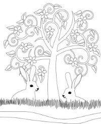 Easter bunny sheet for slightly older children