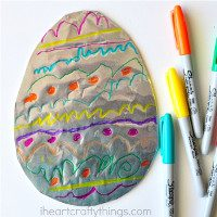 You need tin foil, card board, scissors, sharpies (or just felt tip pens)
