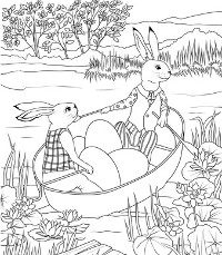 Detailed rowing bunnies