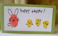 White paper, stamp ink pads (or paint), a black pen for detail and card if you want to make your design into an Easter card.
