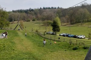 The zip wire at Stonor Park