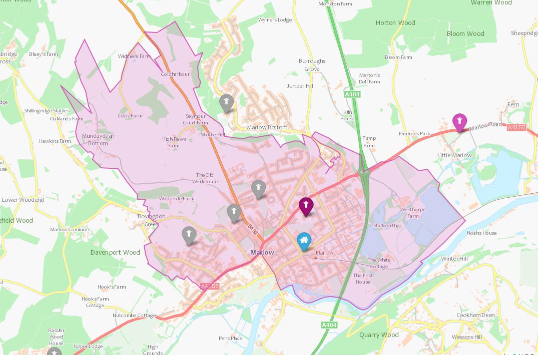 FoxesPieceSchool_catchment_area