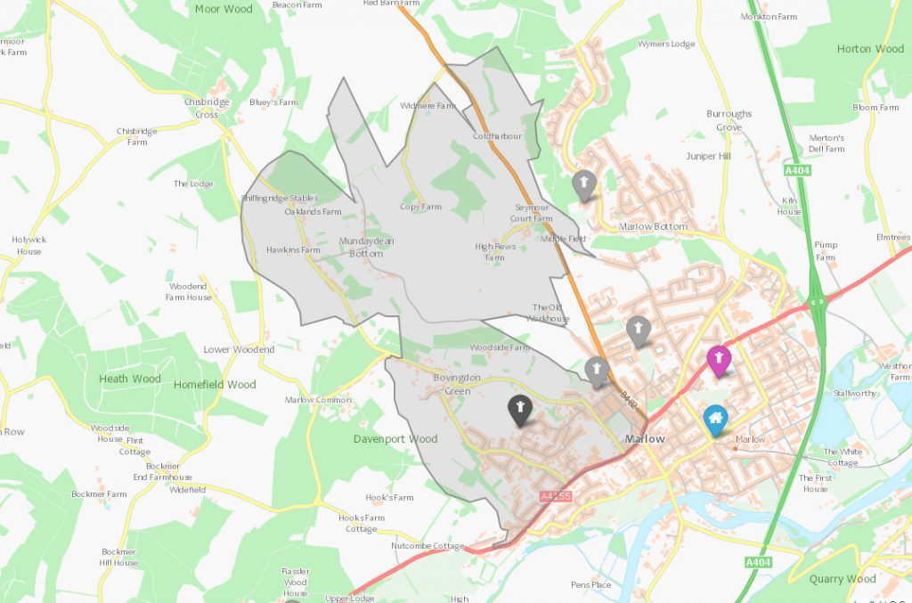 Marlow Primary School Catchment Area Maps Marlowmumscom