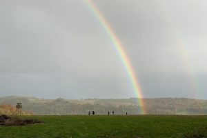 Hambleden family walk raindow