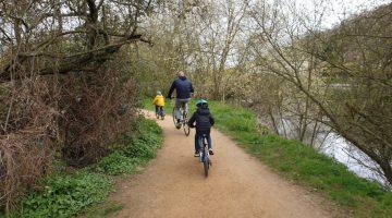 Marlow family bike ride
