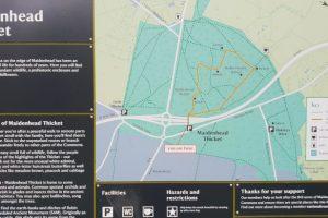 Maidenhead thicket family walk map
