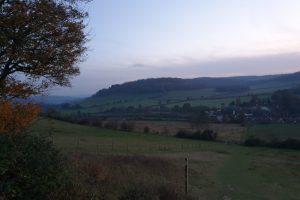 turville family walk hillside view