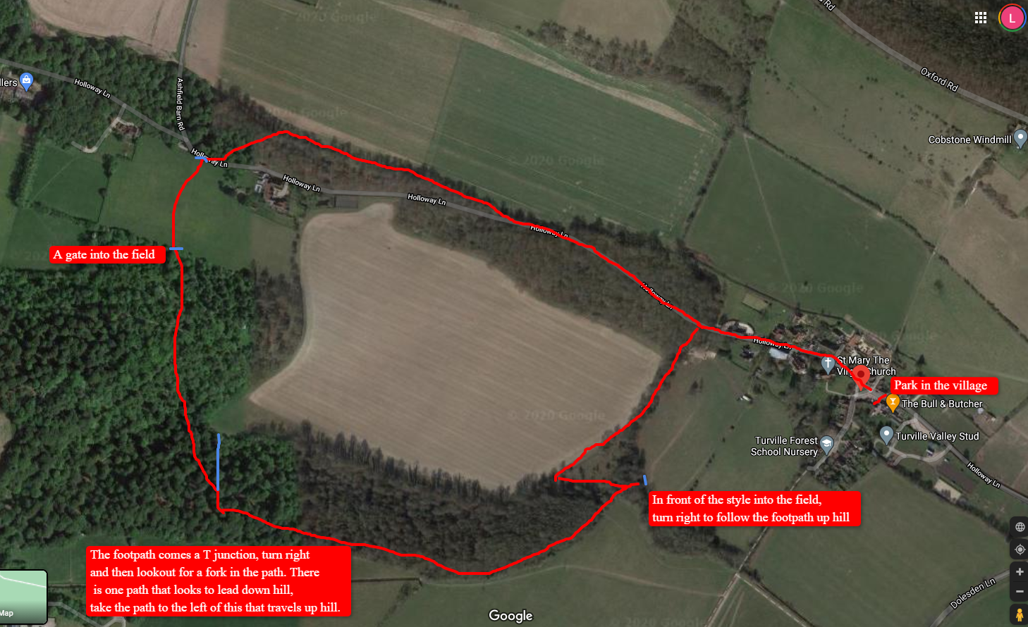 Turville woodland family walk map