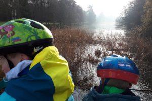 Windsor Park family bike ride river