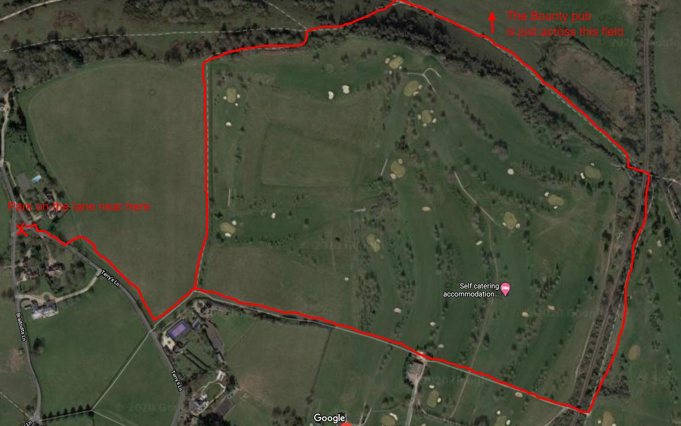 Winter hill golf course family walk map