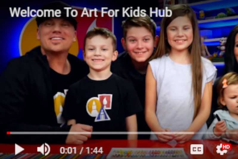 Free lockdown activities for kids - art lessons