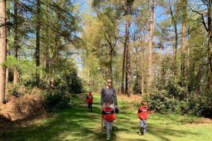 Ashley Hill family walk boys