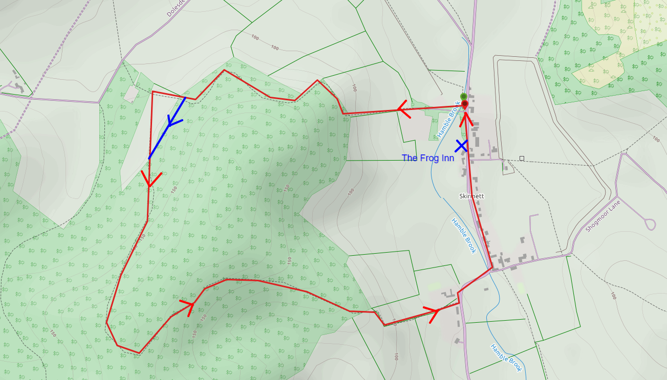 Skirmett Family Walk Map