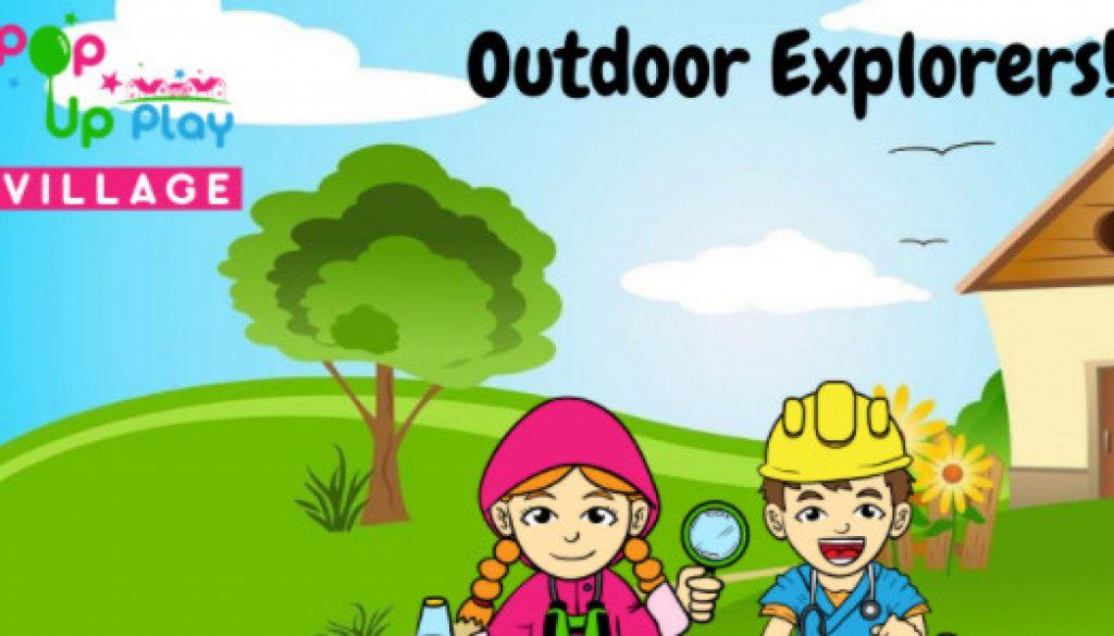 Pop up Play Village Outdoor Explorers